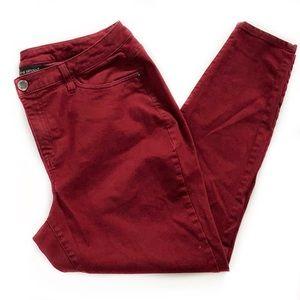 Lane Bryant • Dark Red Skinny Jeans
